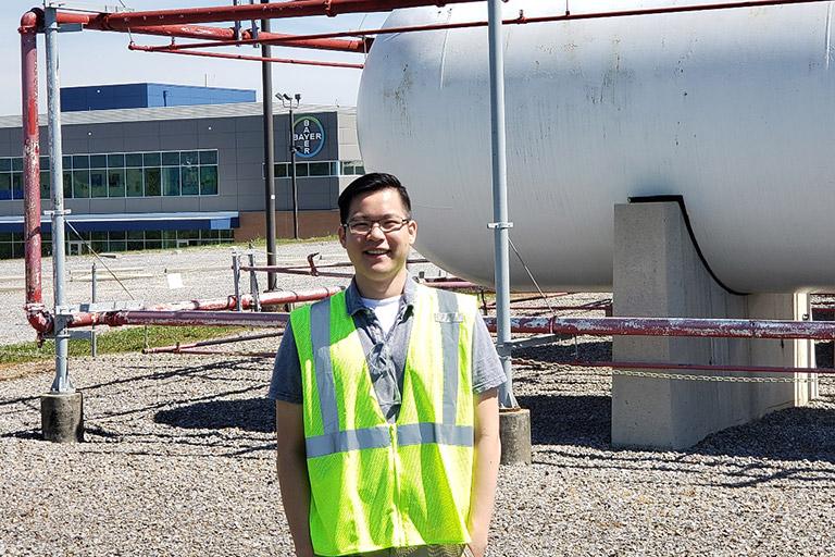 Jason Chung working at Bayer.