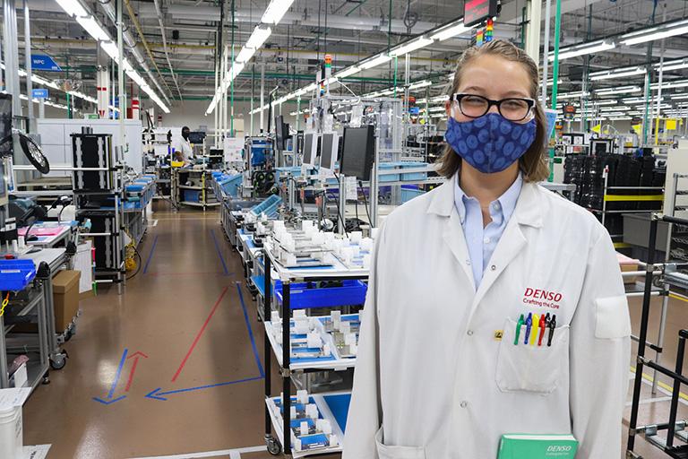 Olivia Lazar works at DENSO Manufacturing.